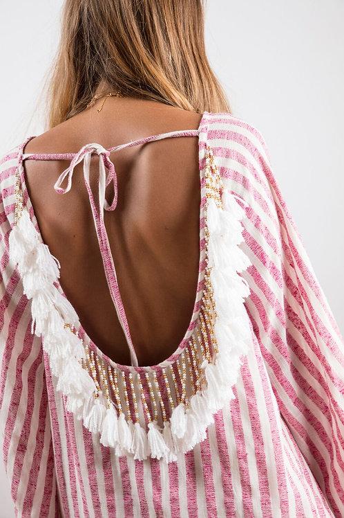 Indiana Dress Portofino Pink / White