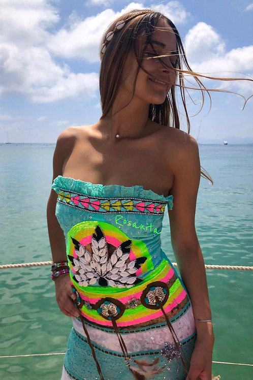 Fabulous Squaw Long Dress LAS NOCHES IBIZA