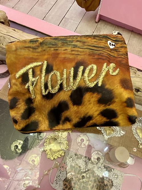 POCHETTE IMPRIMÉE BRODÉE OR FLOWER