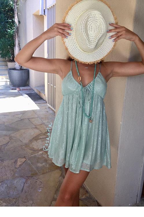 Robe alba short Marbella  coloris Pool turquoise