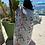 Thumbnail: ROBE LONGUE KIMONO IMPRIMÉE  fond bleu ciel