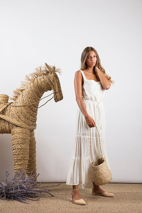 Long Dress Lucia Precieuse White