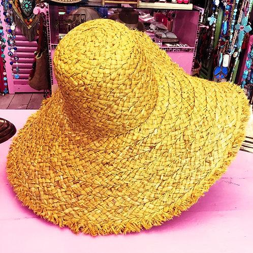 Chapeau paille jaune