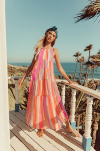 VALERIA LONG DRESS Marbella mix rainbow