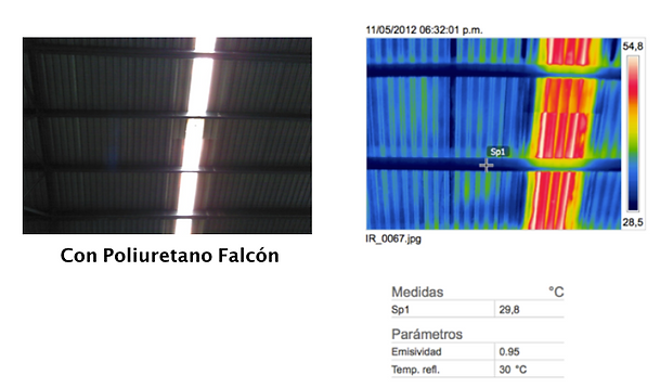 Estudio temgrafco con poliuretano falcon