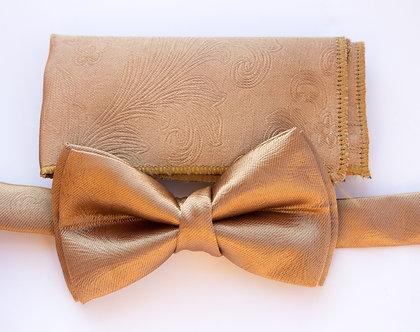 Gold Satin Bow-tie