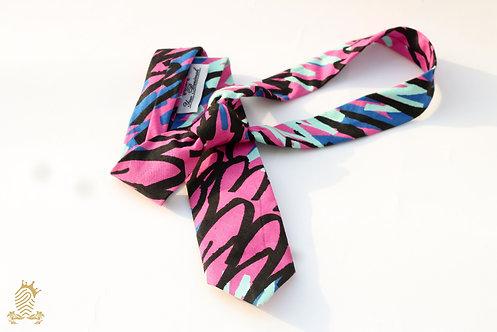 Pink Graffiti Necktie : Scribbles