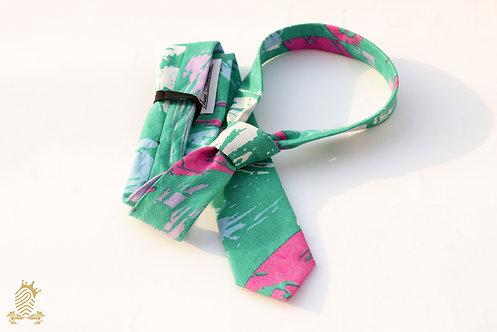 Green Graffiti Necktie : Splash
