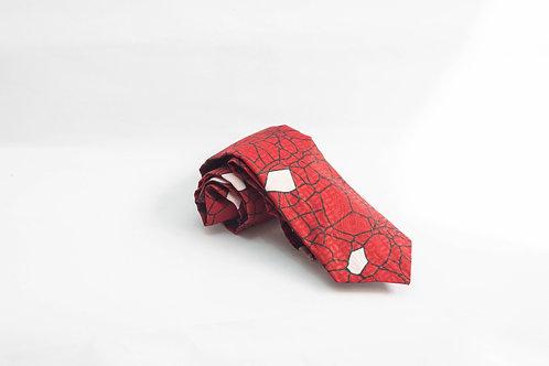 Red Brick Print Necktie
