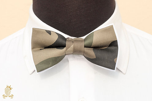 Dark Green Camouflage Bow-tie