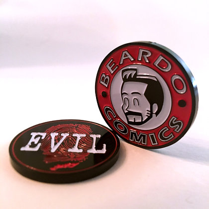 Beardo/Touching Evil Challenge Coin!