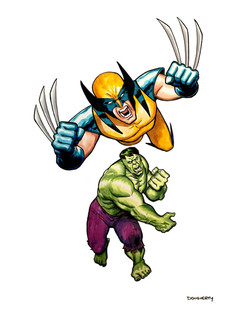 Wolverine and Hulk Fastball Special