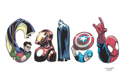 Caleb Superhero Letters