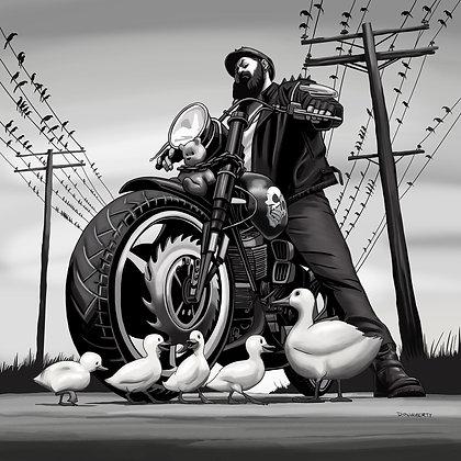 Duck Crossing 12x12 print