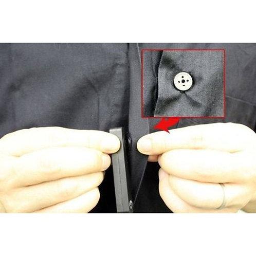 Micro Câmera espiã botão de camisa 8GB