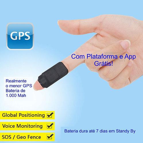 Micro GPS com Escuta com Bateria de 1.000 Mah