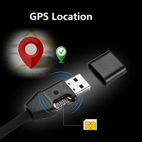 Cabo USB Espião Escuta GPS Rastreador Tempo Real