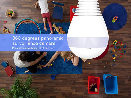 Lâmpada Wifi Com Câmera 360º Panorâmica