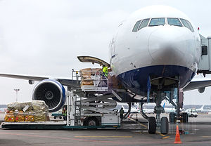 Loading cargo into the aircraft before d