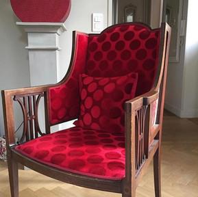 Tissu Casamance pour fauteuil Anglais
