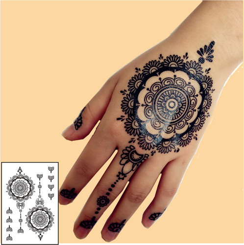 henna sticker 3 henna tattoo online shop schweiz. Black Bedroom Furniture Sets. Home Design Ideas