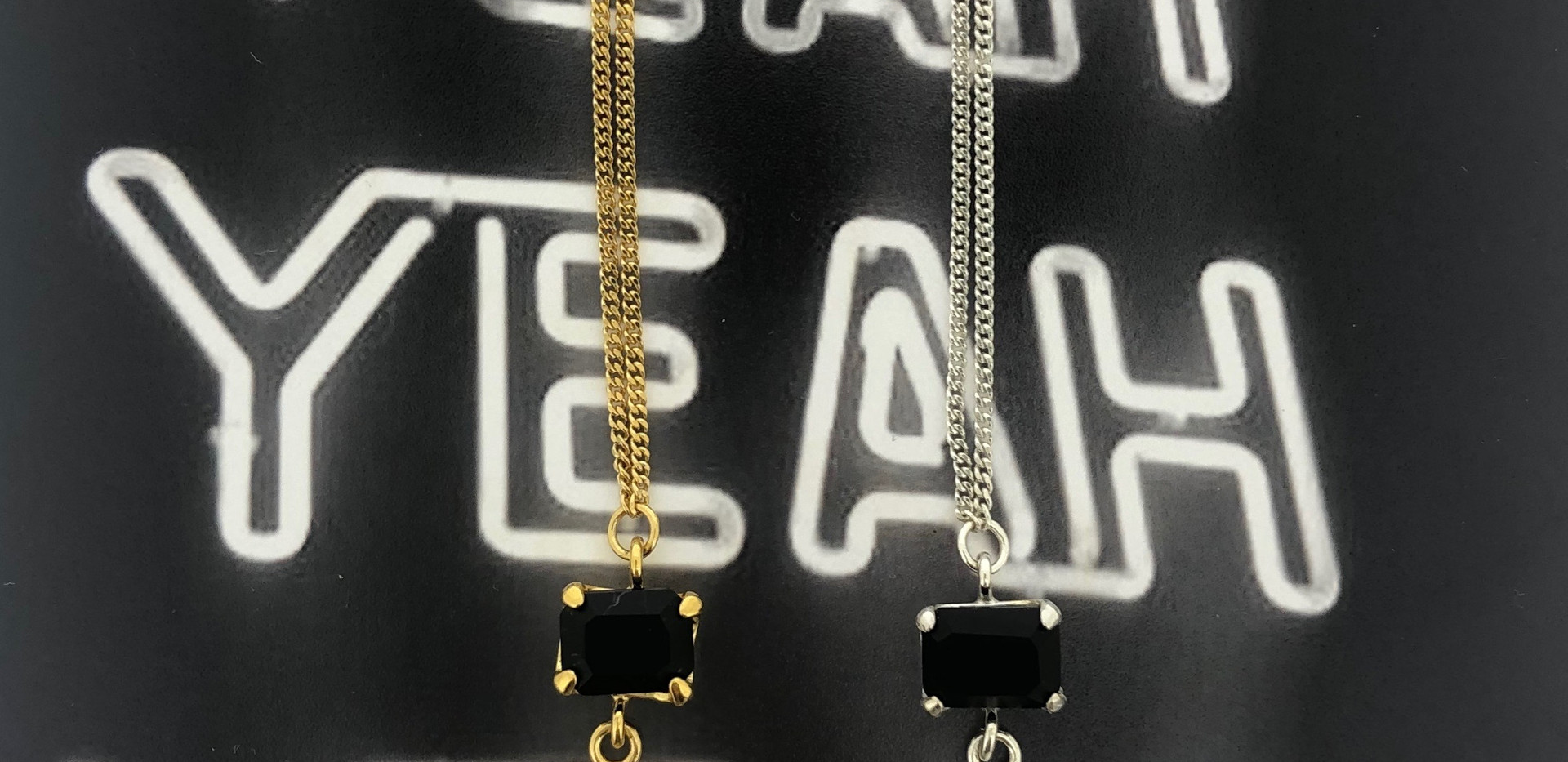 silver & silver 18 carat gold-plated necklace (long)