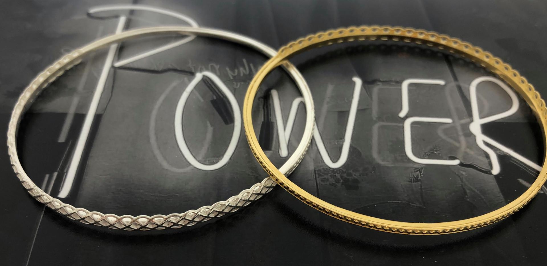 silver & silver 18 carat goldplated bracelet