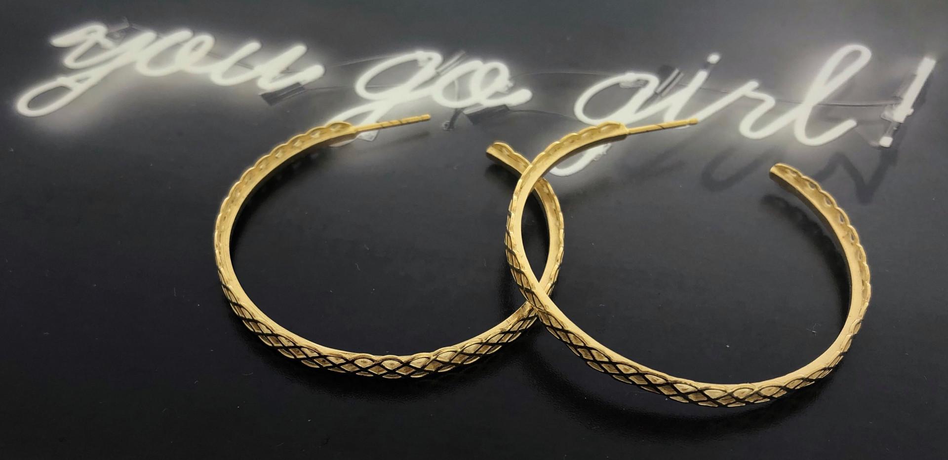 silver 18 carat goldplated earrings/earstuds