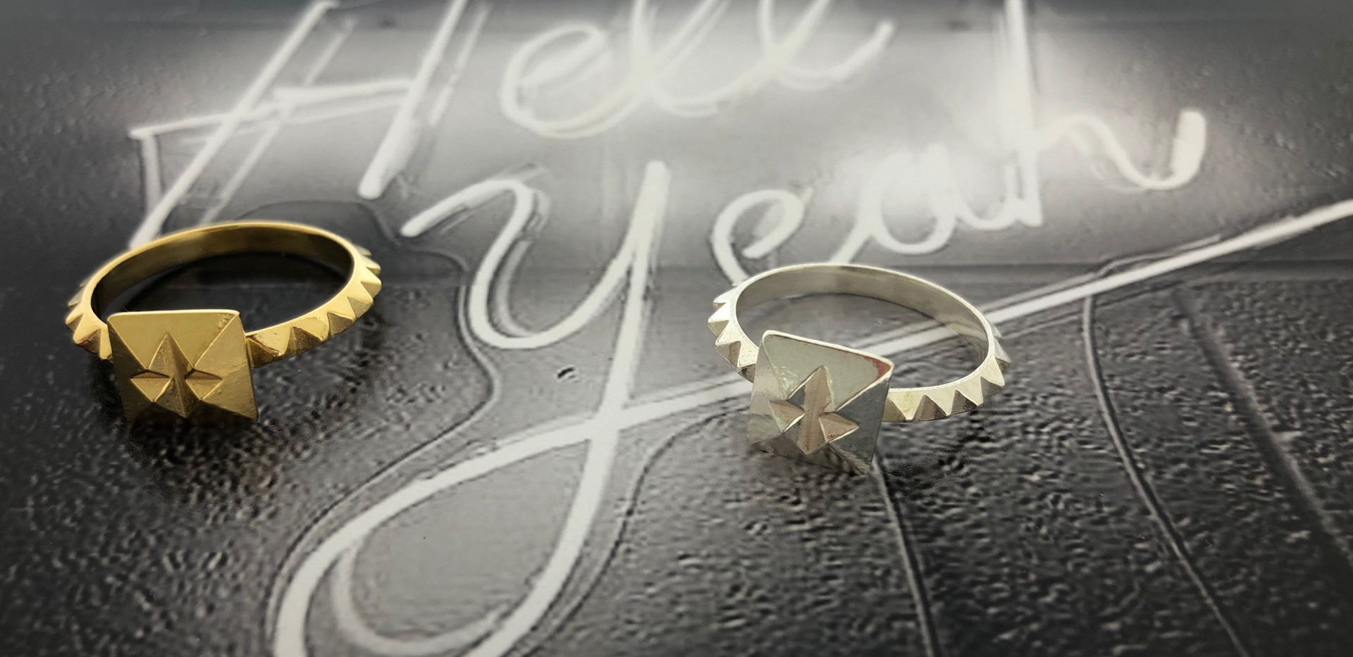 silver & silver 18 carat gold-plated ring
