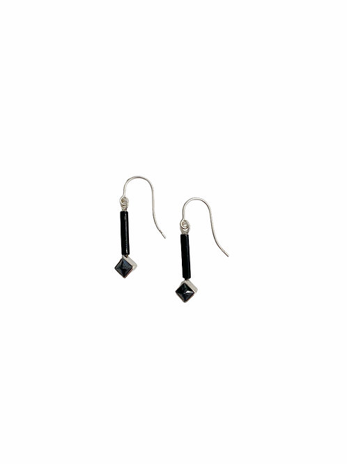 SILVER & BLACK EARRINGS
