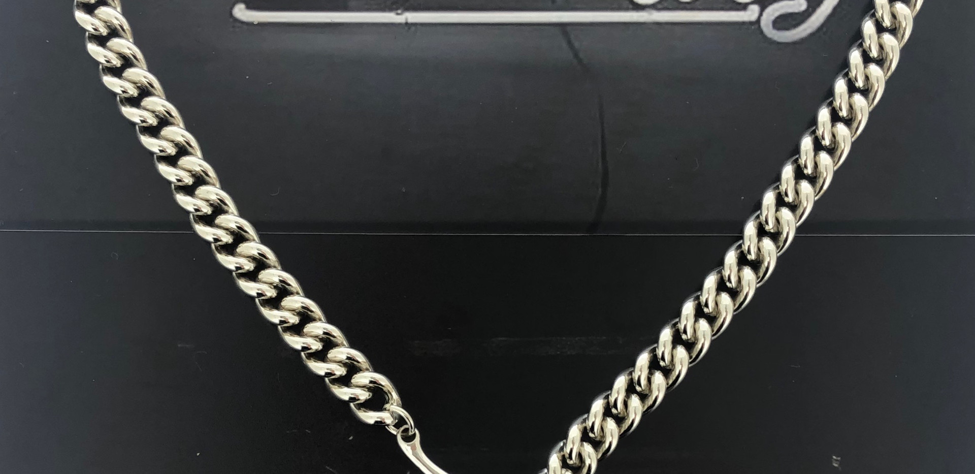 silver necklace hematite