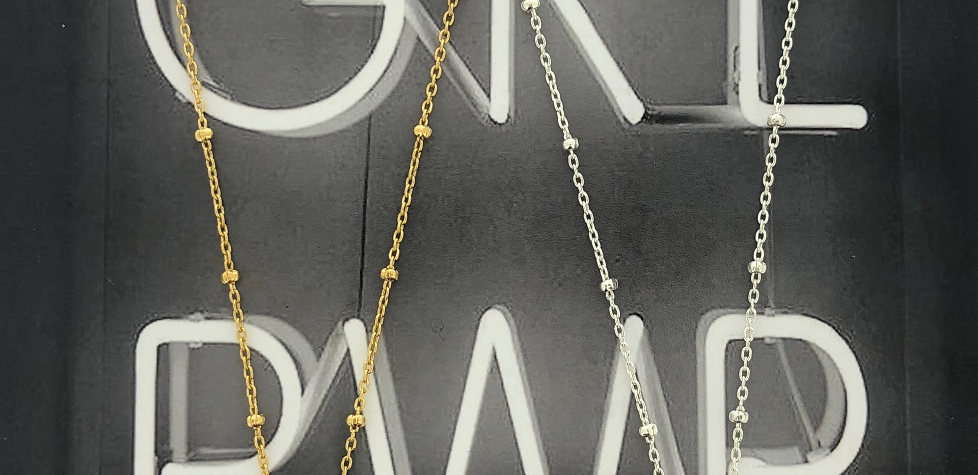 silver & silver 18 carat goldplated necklace