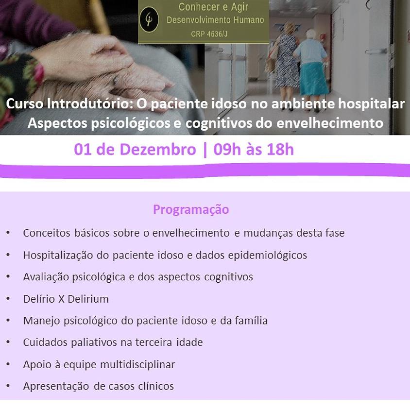 Curso Introdutório: O paciente idoso no ambiente hospitalar  Aspectos psicológicos e cognitivos do envelhecimento