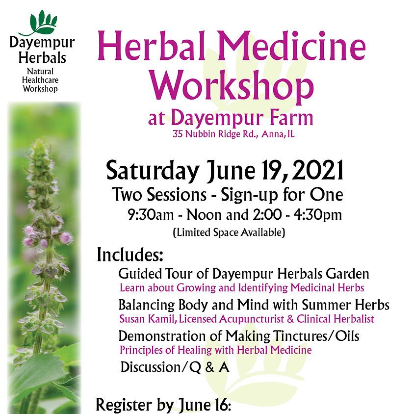 Herbal Medicine Workshop (Afternoon Session)