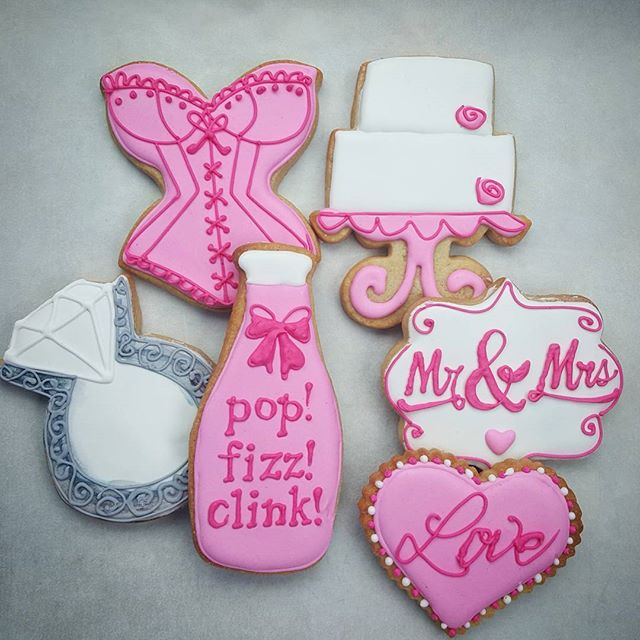 Pop! Fizz! Clink! Wedding Cookies
