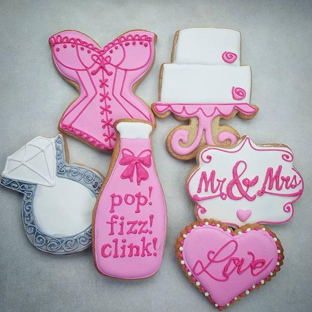 Pop! Fizz! Clink! Wedding Cookies