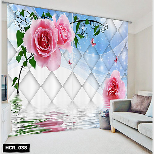 Homey curtian -  Flowers 300Cm*260Cm