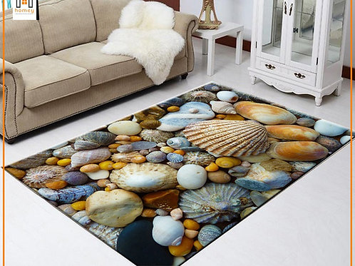 Seashell Printed Carpet Cover 150 cm x 240 cm
