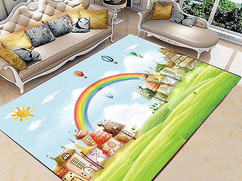Rainbow Printed Carpet Cover 150 cm x 240 cm