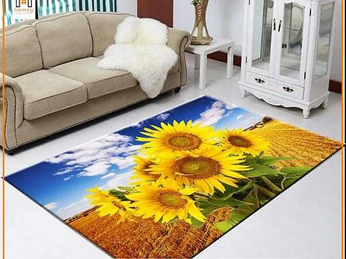 Flowers Printed Carpet Cover 150 cm x 240 cm