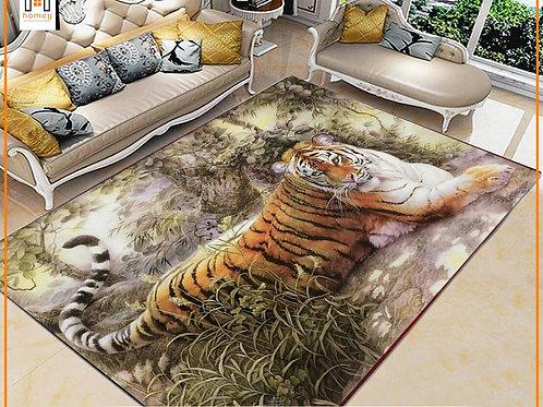 Tiger Printed Carpet Cover 150 cm x 240 cm