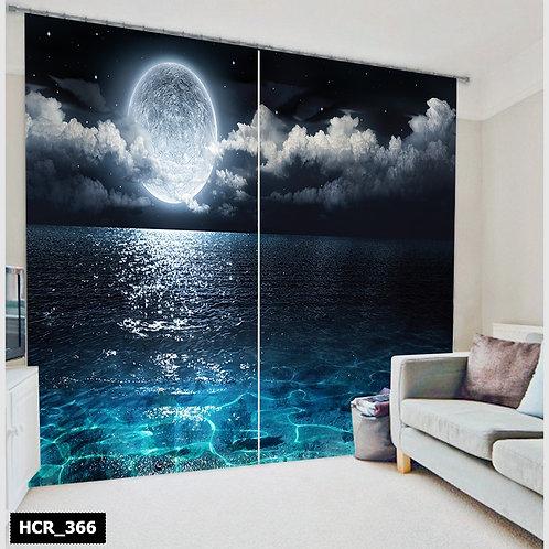 Moon Light 3D Double Curtain 300 cm x 260 cm