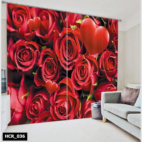 Homey curtian - Flowers 300Cm*260Cm