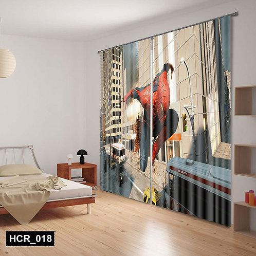 spiderman 3D Double Curtain 300 cm x  260 cm