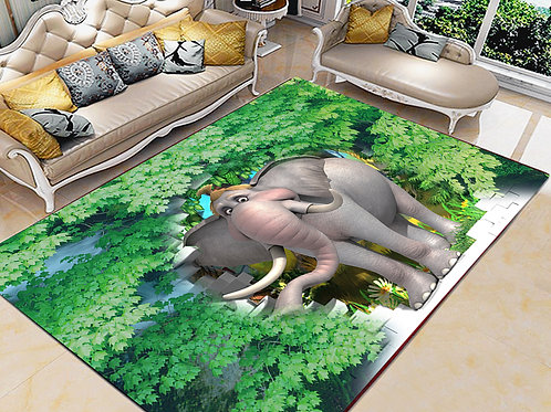 Elephant Printed Carpet Cover 150 cm x 240 cm