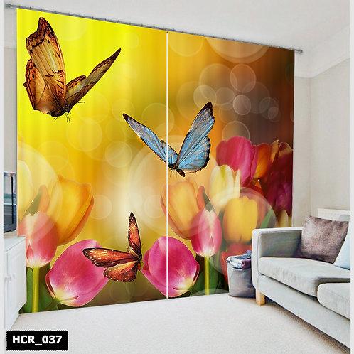 Homey curtian - Butterfly 300Cm*260Cm