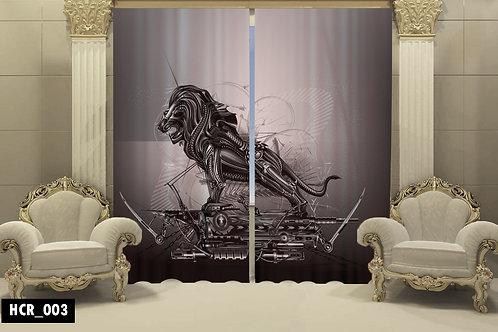 Iron Lion 3D Double Curtain 300 cm x 260 cm