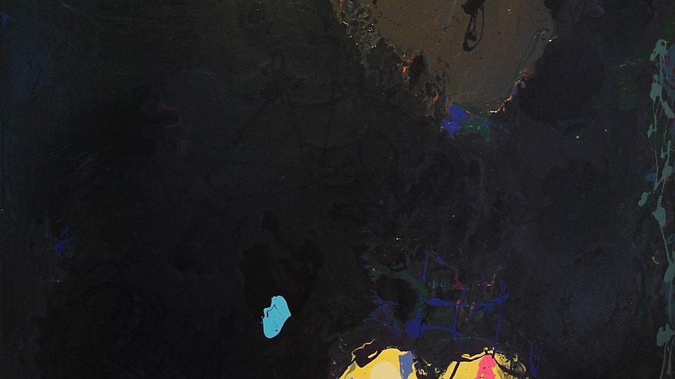 """BLACK PAINTING""  PETER REGINATO 70x96 ENAMEL CANVAS 2017"