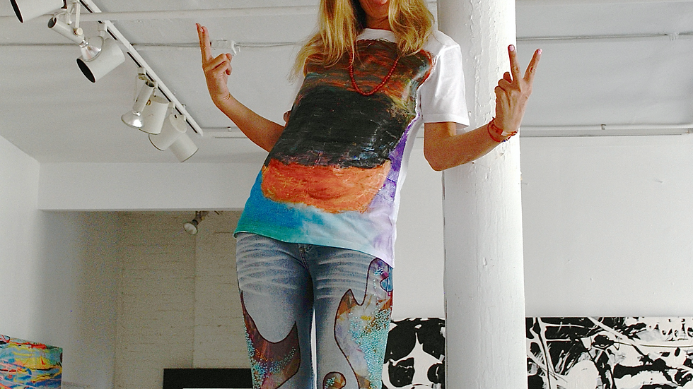 Limited Edition T-Shirt: Hand-Painted by Ronnie Landfield