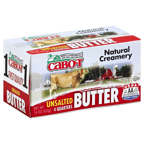 1 Pound Cabot Creamery Unsalted Butter